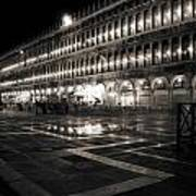 Piazza San Marco At Night Venice Poster