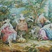 Picnic In France Tapestry Poster by Unique Consignment