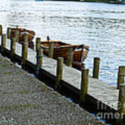 Pier At Lake Windemere Poster