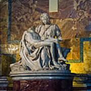 Pieta By Michelangelo Circa 1499 Ad Poster
