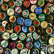 Pile Of Beer Bottle Caps . 8 To 10 Proportion Poster