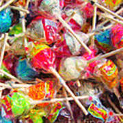 Pile Of Lollipops - Painterly Poster