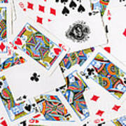 Pile Of Playing Cards Poster