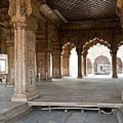 Pillars Of Building Inside Red Fort Poster