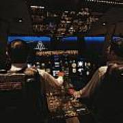 Pilots In The Cockpit Of An Aircraft Poster