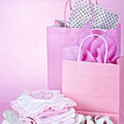 Pink Baby Shower Presents Poster