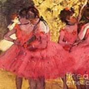 Pink Dancers Before Ballet Poster by Pg Reproductions