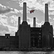 Pink Floyd Pig At Battersea Poster