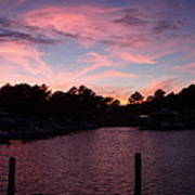 Pink N Blue Sunset On The Chesapeake Bay Va Poster