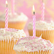 Pink Party Cupcakes Poster