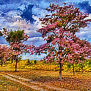Pink Trees Poster