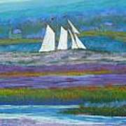 Pirates On The Lahave River Poster by Rae  Smith PSC