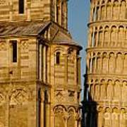Pisa Tower And Cathedral Poster