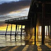 Pismo Pier Sunset IIi Poster