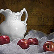Pitcher With Apples Still Life Poster
