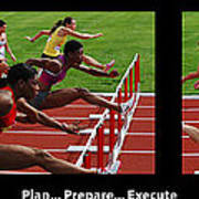 Plan Prepare Execute With Caption Poster