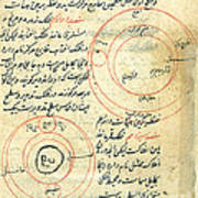 Planetary Diagram, Islamic Astronomy Poster by Science Source