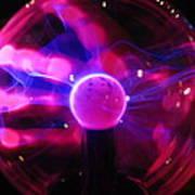 Plasma Hand Poster