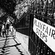 Playfair Steps Down Into Princes Street Gardens Edinburgh Scotland Uk United Kingdom Poster by Joe Fox