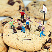 Playing Basketball On Cookies II Poster by Paul Ge