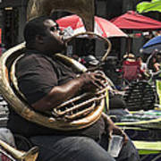 Playing The Tuba _ New Orleans Poster
