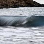 playing with waves 1 - A beautiful image of a wave rolling in noth coast of Menorca Poster