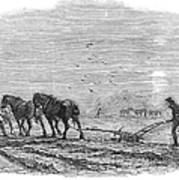 Ploughing, 1846 Poster