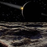 Pluto Seen From The Surface Poster