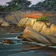 Point Lobos Last Light Poster
