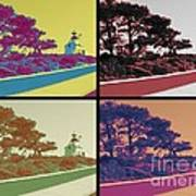 Point Loma Lighthouse Warhol Poster