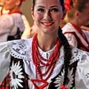 Polish Folk Dancing Girl Poster