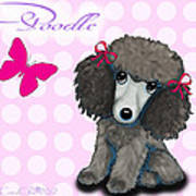 Poodle Cartoon Poster