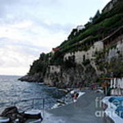 Pool In The Amalfi Santa Caterina Hotel Poster