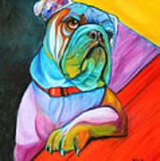 Pop Art Bulldog Poster