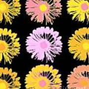 Pop Art Floral I -daisies -ii Poster