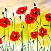 Poppies Poster by Sonya Ragyovska