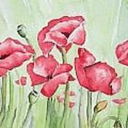 Poppy Field Poster by Regina Ammerman