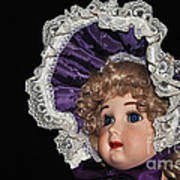 Porcelain Doll - Head And Bonnet Poster