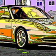 Porsche Carrera Study 4 Poster by Samuel Sheats