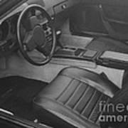Porsche Interior Poster