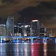 Port Of Miami Downtown Poster