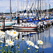 Port Orchard Water Front Marina  Poster