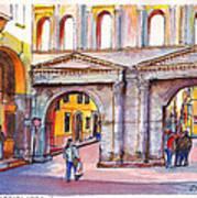 Porta Borsari Verona  First Century Ad Roman Gate Poster