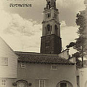 Portmeirion Bell Tower Poster