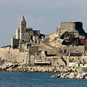 Portovenere's Church And Fortress Poster