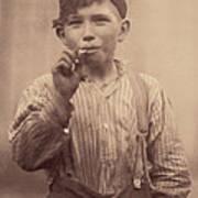 Portrait Of A Boy Smoking, Original Poster
