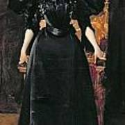 Portrait Of A Lady In Black Poster by William Merritt Chase