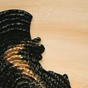 Portrait Variation In Beige - Stu With Hat Poster