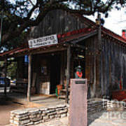 Post Office In Luckenbach Texas Poster