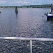 Potomac River Dock Poster